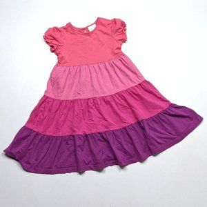 Hanna Andersson Pink Tiered Dress Sz 6X